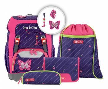 Ранец Step By Step Grade Shiny Butterfly фиолетовый/розовый (129673)