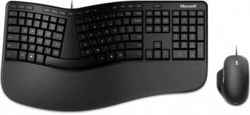 Комплект клавиатура+мышь Microsoft Ergonomic Keyboard & Mouse черный/черный (rju-00011)