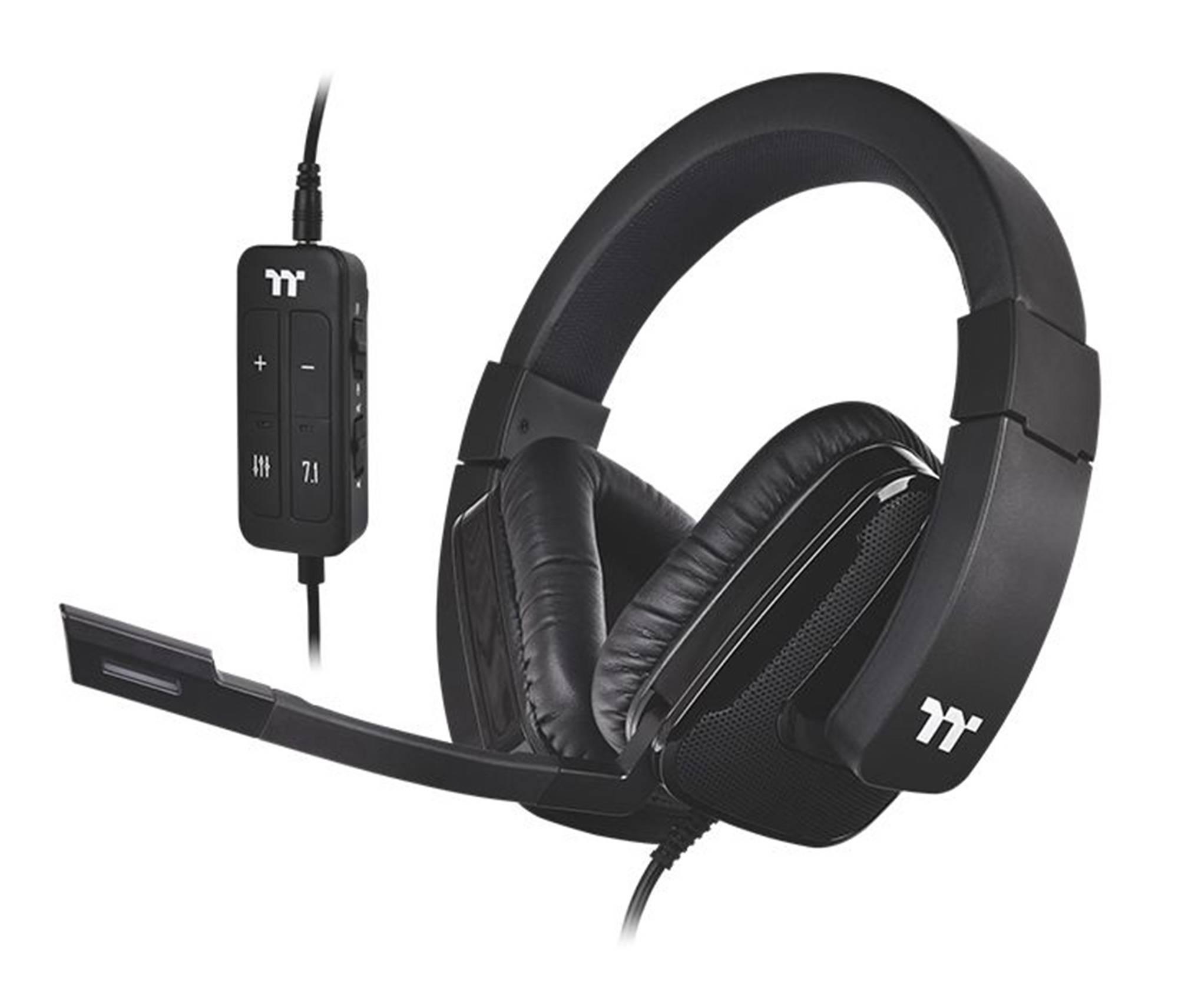 Наушники с микрофоном Thermaltake Shock XT 7.1 черный (GHT-SHX-DIECBK-36) - фото 1