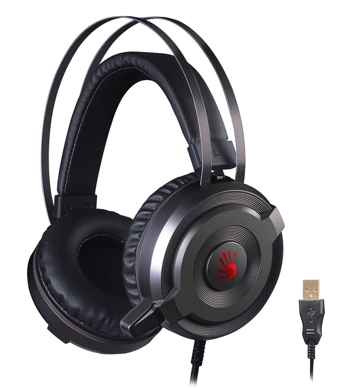 Наушники с микрофоном A4Tech Bloody G520S серый (G520S) - фото 1