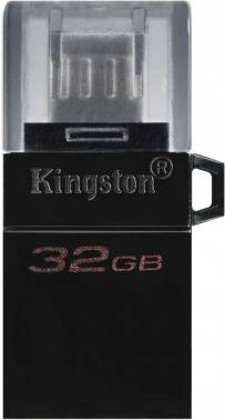Флешка Kingston DataTraveler microDuo 3 G2 32ГБ USB3.0 черный (DTDUO3G2/32GB)