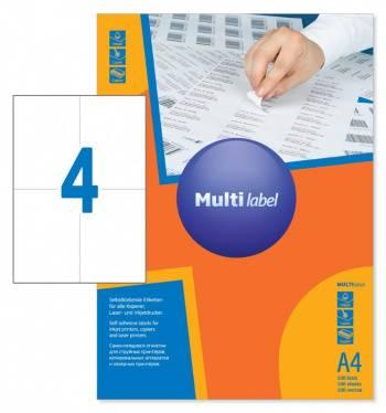 Этикетки Multilabel 40105148 A4 80г/м2 100л.