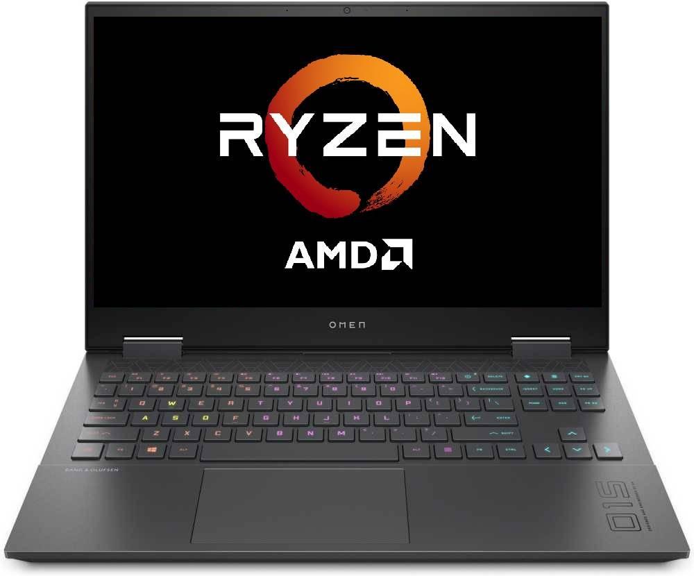 "Ноутбук 15.6"" HP Omen 15-en0037ur темно-серый (22R18EA) - фото 1"