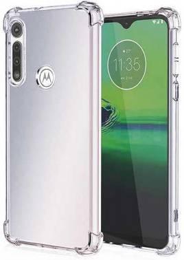 Чехол Motorola Brosco, для Motorola G8, прозрачный (MOTO-G8-HARD-TPU-TRANSPARENT) (плохая упаковка)