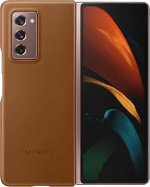 Чехол Samsung Leather Cover, для Samsung Galaxy Z Fold2, коричневый (EF-VF916LAEGRU)