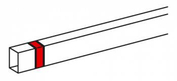 Накладка на стык Legrand 638106 15x10мм белый (упак.:10шт)