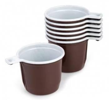 Чашка пласт. 200мл (упак.:50шт) коричневый