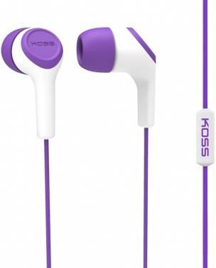 Гарнитура Koss KEB15i фиолетовый/белый (10102305) (плохая упаковка)