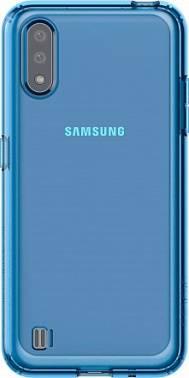 Чехол Samsung araree M cover, для Samsung Galaxy M01, синий (GP-FPM015KDALR)