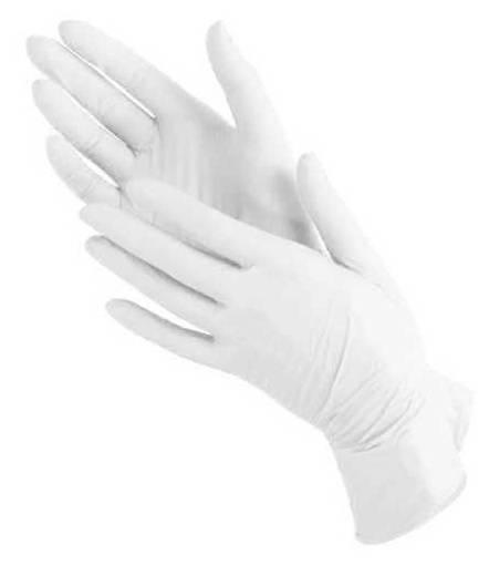 Перчатки Bi-Safe латекс L (упак.:100шт) белый - фото 1