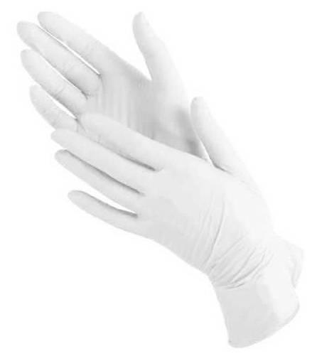 Перчатки Bi-Safe латекс S (упак.:100шт) белый - фото 1