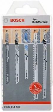 Набор пилок универсальные Bosch MultiMaterial, 15 предм. (2607011438)