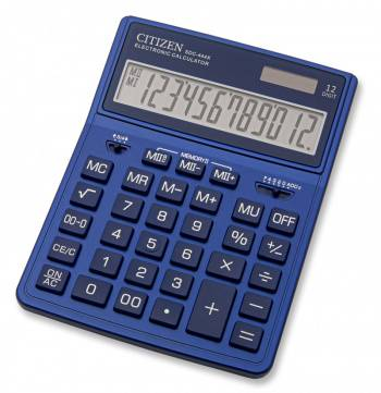 Калькулятор бухгалтерский Citizen SDC-444XRNVE темно-синий