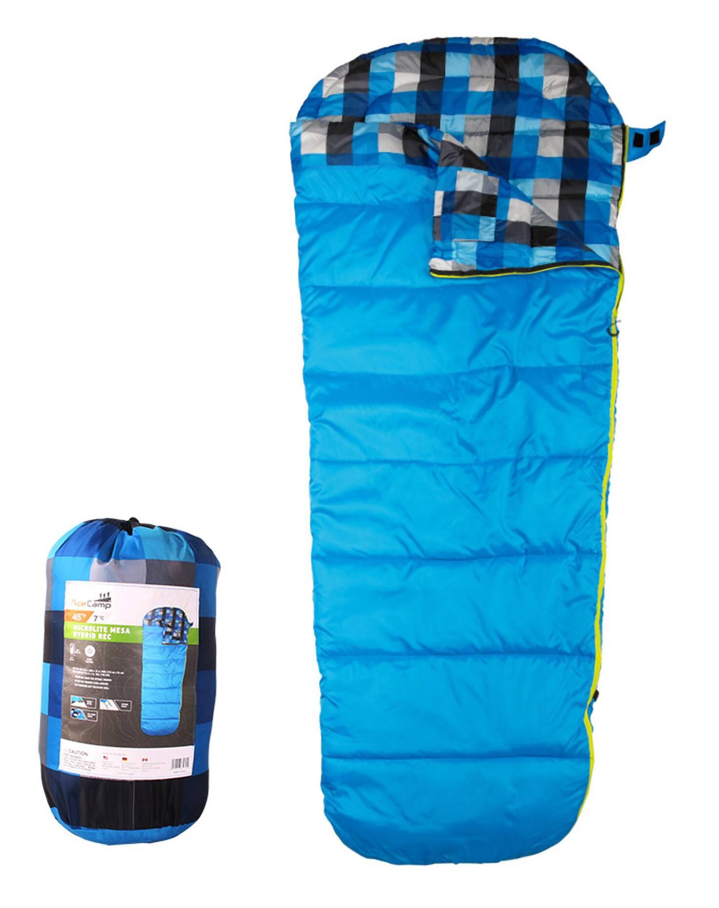 Мешок спальный AceCamp Microlite Mesa прав. дл.:218см синий (3970) - фото 1