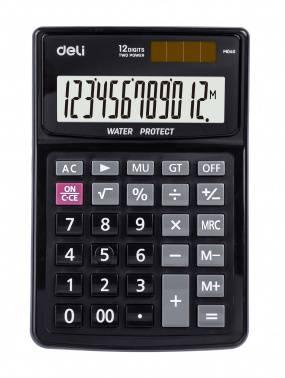 Калькулятор настольный Deli EM04031 черный