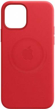 Чехол Apple Leather Case with MagSafe, для Apple iPhone 12 mini, красный (MHK73ZE/A)
