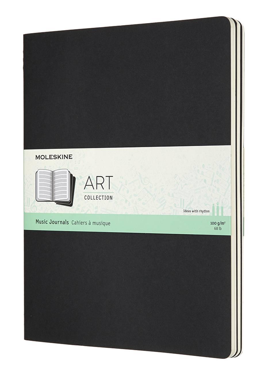 Блокнот Moleskine Art Cahier Music XLarge черный (ARTMUS4) - фото 1