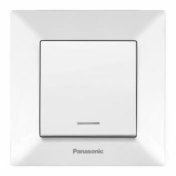 Выключатель Panasonic Arkedia белый глянцевый (wmtc00442wh-ru)