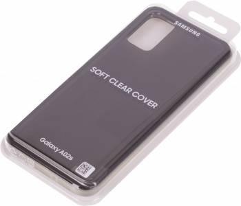 Чехол Samsung Soft Clear Cover, для Samsung Galaxy A02s, черный (EF-QA025TBEGRU)