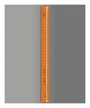 Линейка Стамм Cristal Neon оранжевый/прозрачный (лн720)