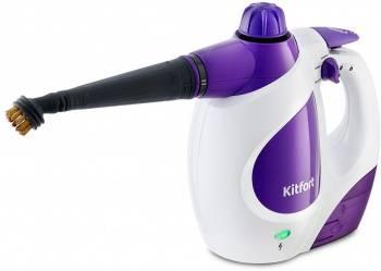 Пароочиститель ручной Kitfort КТ-976 белый/фиолетовый
