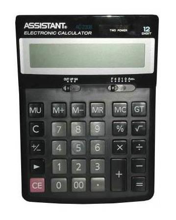 Калькулятор настольный Assistant черный (AC-2308) - фото 1