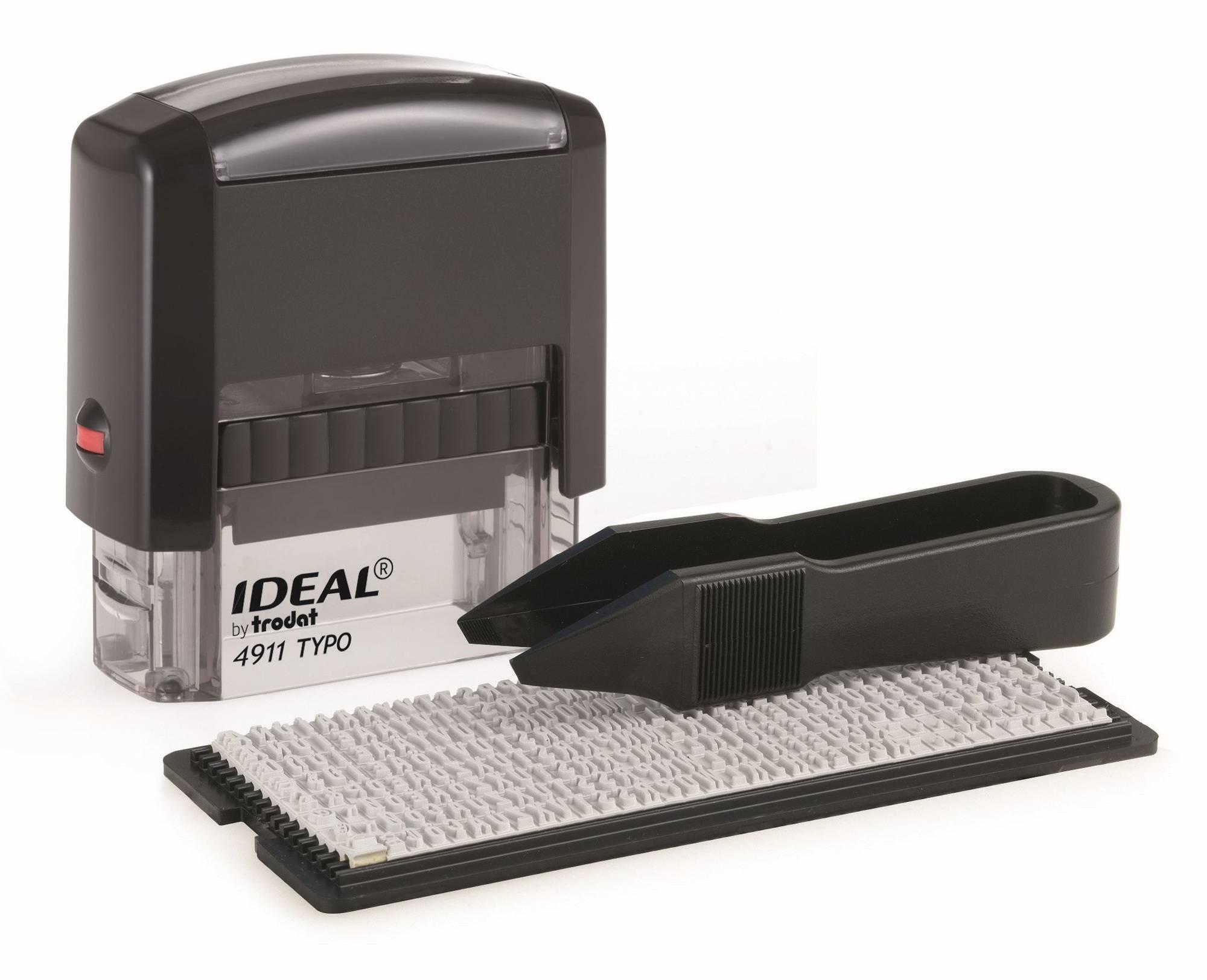 Самонаборный штамп Trodat 4911/DB TYPO IDEAL пластик - фото 1