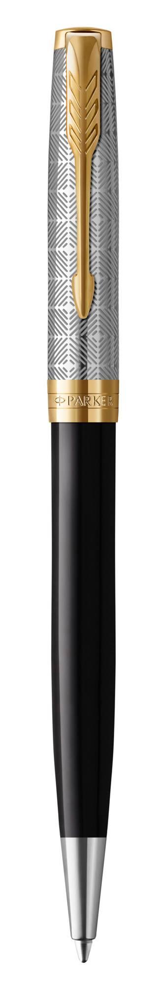 Ручка шариковая Parker Sonnet Premium K537 Metal Black GT (2119787) - фото 1