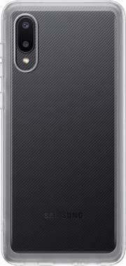 Чехол Samsung Soft Clear Cover, для Samsung Galaxy A02, прозрачный (EF-QA022TTEGRU)