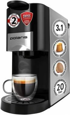 Кофемашина Polaris PCM 2020 3-in-1 черный/нержавеющая сталь (pcm 2020)