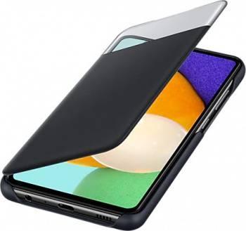 Чехол Samsung Smart S View Wallet Cover, для Samsung Galaxy A52, черный (EF-EA525PBEGRU)