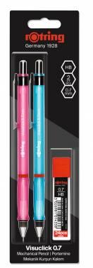 Набор карандашей механических Rotring Visuclick розовый/голубой (2102711)