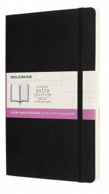 Блокнот Moleskine Classic Soft Double Large (nb313sbk)