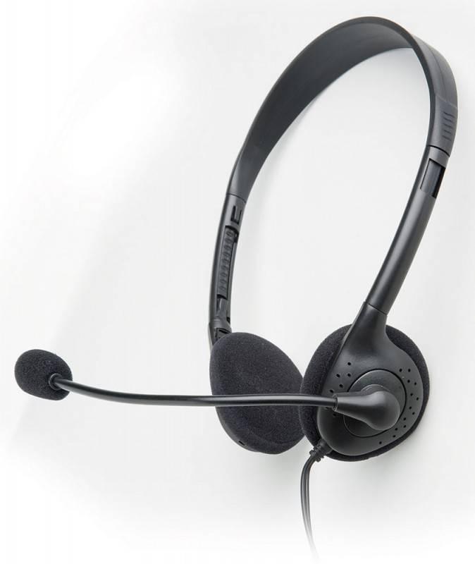 Наушники с микрофоном AP-210 черный - фото 1