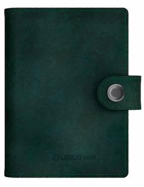 Кошелек Led Lenser Lite Wallet зеленый, кожа натуральная (502398)