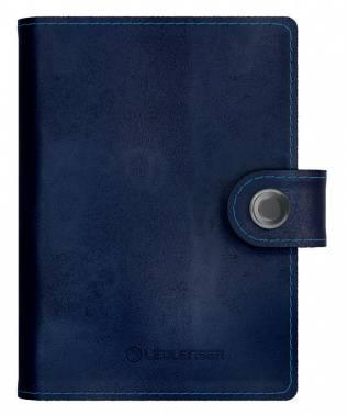 Кошелек Led Lenser Lite Wallet синий, кожа натуральная (502397)