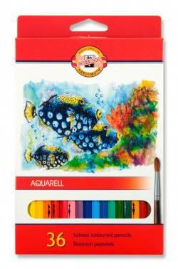 Карандаши цветные акварельные Koh-I-Noor Fish 3719 36цв. (3719036004ksru)