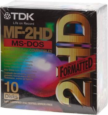Дискеты TDK 1.44Mb 3.5 MFD (10шт) Carton Box