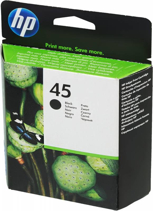 Картридж HP 45 черный (51645AE) - фото 1
