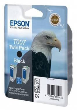 Двойная упаковка картриджей Epson T007 черный (C13T00740210)