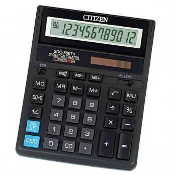 Калькулятор бухгалтерский Citizen SDC 888TII черный (SDC-888TII)