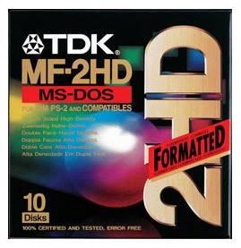 Дискеты TDK 1,44Mb Plastic Box (10шт)