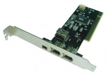 Контроллер PCI VIA6307, 1xIEEE1394(4p), 2xIEEE1394(6p), Bulk (IEEE1394 (2+1)P)