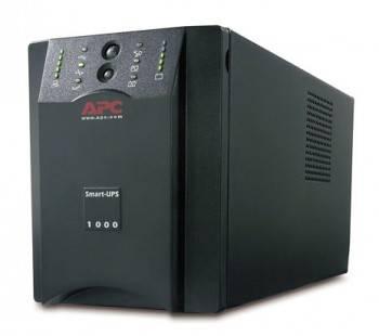 Источник бесперебойного питания APC Smart-UPS XL SUA1000XLI line-interactive черный, мощность 1000ВА, IEC320 6шт