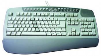 Клавиатура A4 KBS-8 серый / белый