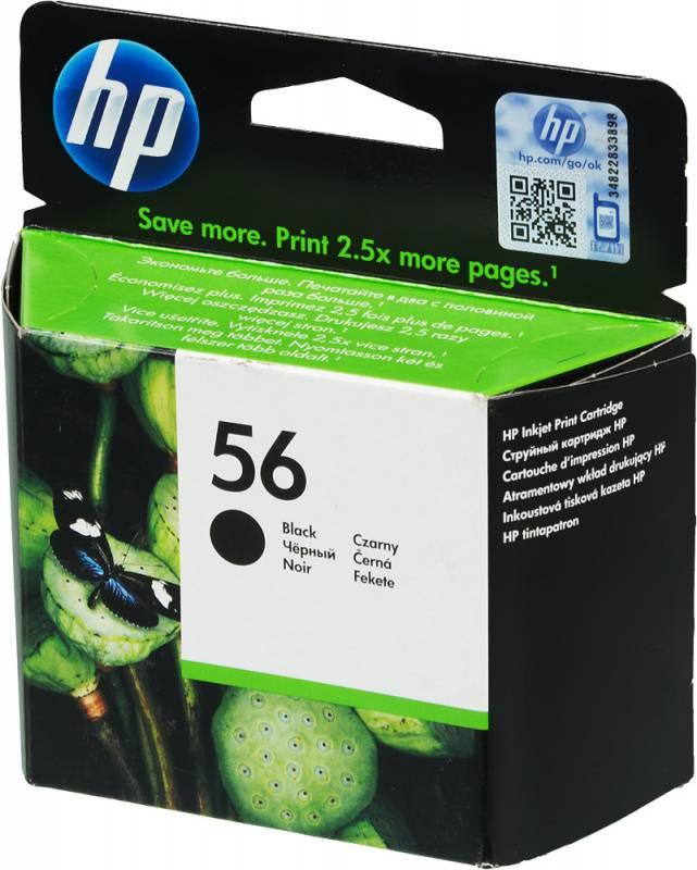 Картридж HP 56 черный (C6656AE) - фото 1