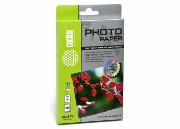 Фотобумага Cactus CS-GA618050 10x15 180г/м2 50л. белый