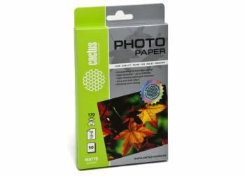 Фотобумага Cactus (CS-MA617050) 10x15 / 170г / м2 / 50л. белый