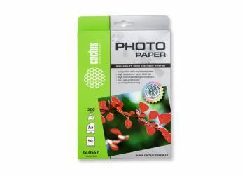 Фотобумага Cactus CS-GA520050 A5 200г/м2 50л. белый