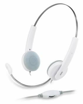 Наушники с микрофоном Genius HS-210C белый